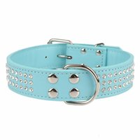 Dog Collars & Leashes Traumdeutung Big Dogs Rhinestone Accessories Supplies Leash For Large Necklace Pet Collar Leather Guinzaglio Cane