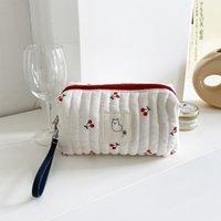 مبطن حقيبة مستحضرات التجميل تخزين الزلابية البكر القلب الكرز uk zrlw804