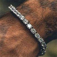Bracelet de tennis de tennis pour hommes ronds Court de tennis Zirconia triple verrouillage hiphop bijoux cubique cristaux de luxe de luxe CZ Charm wmtufz dayuphop 359 q2