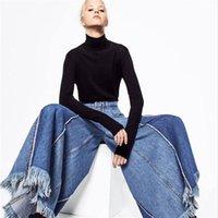Fengmeisi 2017 Wide Leg Pants Fashion High Waist Jeans New Womens Pants Full Length Loose Cowboy P3549