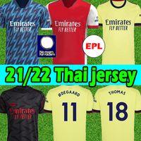 21/22 Arsen Soccer Jersey Gunners 2021 2022 Pepe Saka Thomas Nicolas Tierney 424 Jersey 남자 키즈 키트 Hurnrace 홈 멀리 셋째 축구 셔츠 태국
