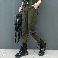 Women's Pants & Capris 4XL Cargo Women Military Tactical Joggers Outdoor Punk Cotton Sweatpants Female Hip Hop Trousers Army Green