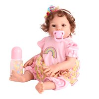 18Inches Relistic Soft Silicone Vinyl Reborn Baby Doll Toy For Child Xmas And Birthday Git