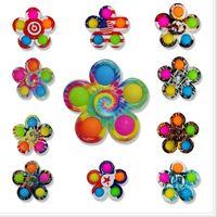 다채로운 감각 fidget 푸시 거품 보드 장난감 간단한 딤플 fidgets 플러스 3 잎 5면 손가락 재생 게임 안티 스트레스 회 전자