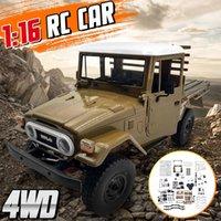 WPL الطبعة المعدنية UNASTEMBLED KIT 116 4WD RC شاحنة كيت للأطفال الأولاد نموذج سيارة هدية على الطرق الوعرة شاحنة المركبات مع محرك