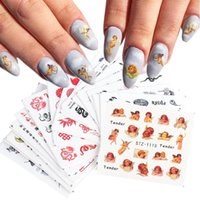 Nail Art Kits 2021 Little Angel Stickers Set Dragon Letter Water Transfer Decals Tattoos Sliders Manicure Decoration