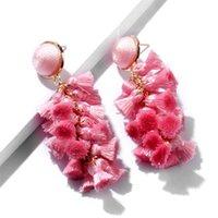 Neue Quaste Ohrringe für Frauen Ethnische große Drop Ohrringe Böhmen Trendy Baumwollseil Fransen Lange Baumeln Ohrringe ZA Schmuck 2 J2 A1007