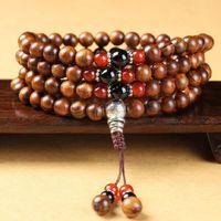 Китайская рука сделала подлинный вьетнамский палисазник 108 Mala Beads String оригинальные мужчины и женские любовники браслет цепь ювелирных изделий из бисера, пряди