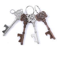 Vintage Keychain Keyring Beer Bottle Opener Coca Can Opening tool with Ring or Chain GWF6360