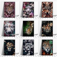 5d Diy Embroidery Animal in Flowers Diamond Painting Cross Stitch Kit Wall Art Poster For Home Decoration