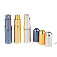 Bullet Toplu Parfüm Şişe Sprey Alüminyum Tüp Boş Şişeler Parti Malzemeleri Kozmetik Taşınabilir Mini Cam Liner 6 ml Deniz AHC7536