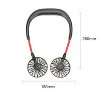 Neue hängende Nackenfächer USB wiederaufladbare Nackenband faule Halshände frei hängen dualkühlung Mini Fan Sport 360 Grad rotierend auf Lager