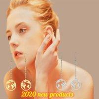 dangles World Map Women's Travel Retro Global Traveller Earth Round Gift Luxury Designer Earrings