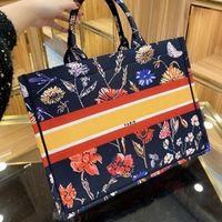 Lvlouis.BORSAVittonlv W302 Famoso borsa da ricamo Tote per le donne Borsa di qualità Borse da borse Canvas High Shopping di lusso Trendy Brand Lady