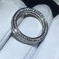 Wedding Rings Fashion Dainty Ring Pave Set Cz Stone 925 Sterling Silver Party Band For Women Valentine's Day Gifts