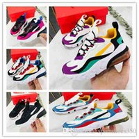 2019 React 2 7c Kids Running shoes Gold Geometric Infant Small Boys Girls Trainers Outdoor Athletic Children Toddlers Sneakers size24-35