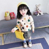 Vidmid Sonbahar Kış Örme Kazak Çocuk Giyim Erkek Kız S Çocuklar Karikatür Saf Pamuk Kazak Kıyafetleri P335 211012