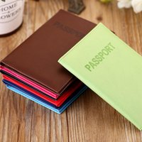 Card Holders 2021 Design Travel Passport ID Cover Holder Case Faux Leather Protector Skin Organizer Gifts