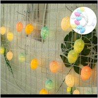 Decoração de festa LED Hollow Ovo Forma Luz Plástico Crack Decorativo Padrão de Ovo de Ovo de Ovo Easter Easter Estival Supply Lâmpadas Coberna Nipzm