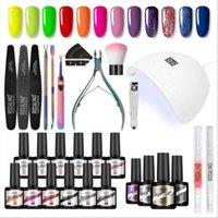 Nail Art Kits 1 conjunto de lâmpada 36wled Secador UV manicure ferramentas 12 tipos cor polonês cola feminina unha polimento