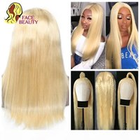 613 Blonde 13x1 Lace Front Human Hair Wigs For Black Women Brazilian Remy Long Straight Hair 30 Inch Wig T-Lace Middle Part Wigs