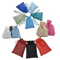 Storage Bags 1Pc Fashion Drawstring Burlap Wedding Favors Party Christmas Gift Jewelry Hessian Sack Pouches Packing 4 Sizes