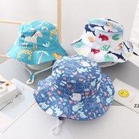 Partido Sombreros Niños Cubo Cubo Niños Picatriz Piedra Animal Estampa Floral Pescador Playa Sol Sombrero Capas plegables HWF7386