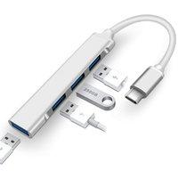 4 in 1 허브 Type-C 3.1 to USB 3.0 2.0 도킹 스테이션 다중 분배기 어댑터 노트북 PC 용 OTG XBJK2105