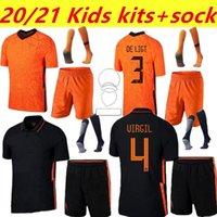 20 21 Holanda Kit Kit de Ligt Cruyff Memphis Soccer Jersey Holland SNEIJDE Gullit 2021 Wijnaldum Promes Jong Virgil