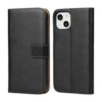 Real True Genuine Leather Wallet Cases For Iphone 13 Pro Max Samsung Note 20 Ultra A32 4G A42 5G A52 A72 A12 X Cover 5 A02S A02 A82 ID Credit Card PC Flip Covers Holder Pouch