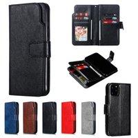 Многофункциональные 9 слотов для карт Flip кожаный кошелек стенд телефон чехлы для iPhone 6 7 8 X XS XR 11 12 Pro Max Mini Samsung S10 S20 S21 Plus Note 10 20 Ultra A32 A52 A72 5G
