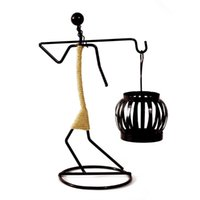 Candle Holders Metal Tealight Candlestick For Home Decoration Creative Iron Ornaments Dinning Table Centerpiece Wedding Party Art Gift
