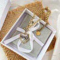 Dior necklace Collar de cadena de amor de moda para mujeres amantes de la fiesta regalo joyería de hip hop Hip Hop con caja