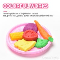 Creative Modeling DIY Colorful Clay Dough Ice Cream Mould Play Kit Skin Mud Handmade Pretend Play Dough Kitchen Toys Kids Gift
