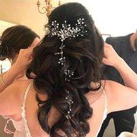 Hair Clips & Barrettes Crystal Pearl Belt Wedding Bridal Ornaments Delicate Accessories Jewelry Bride Headdress Headbands