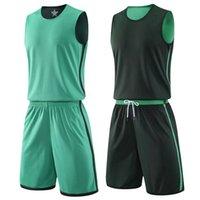 Child Adult Reversible Basketball Set Double-side Uniforms Sports Kit Clothes Kids Customized Jerseys