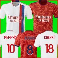 Olympique Lyonnais Lyon Fussball Jersey 21 22 Maillot de Foot 2021 2022 Maillots de Football Hemd TRAORE MEMPHIS OL Men + Kinder Kit Uniformen
