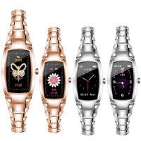 H8 Pro Wristband Fitness Pulseira Mulheres Esporte Smart Watch Dinâmico Dinâmico Monitoramento de Monitoramento Bluetooth para Android Ios Ciclo de Cuidado do Corpo