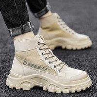 Dress Shoes 2021 Autumn Winter Martin Breathable Casual Men's High Helper Work Cloth Sho Versatile Dert Boots