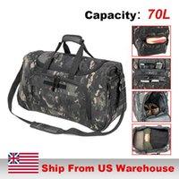 70L Large Capacity Waterproof Locker Bag Men Travel Bags Hand Luggage Hunting Camping Military Tactical Sport Travel Duffle Bag