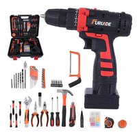 Professiona Electric Drills JUNEFOR 12 16.8 25V Power Tools Drill Screwdriver Mini Wireless Driver DC Lithium-Ion Battery Home DIY Tool Set