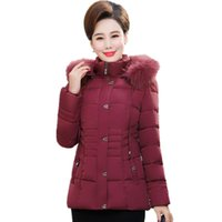 Women's Trench Coats XL-6XL Middle Women Winter Hooded Coat Thick Down Cotton High Quality Large Size Keep Warm Fur Collar Jacket