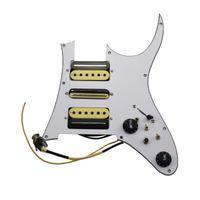 Prewired Pickguard Guitar Pickups Humbucker Pickups Alnico 5 HSH 4C Wiring Harness Push-pull single cut Set For IBAZ R