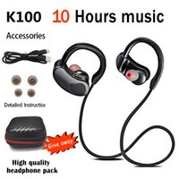Sports Bluetooth-compatible Earphone Wireless Headphones Stereo Headset K98 K100 Earbuds HiFI Bass Hands-Free With Mic