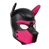 Erotic Headgear SM Bondage Toys Of Latex Puppy Play Head Mask Dog Hoods For Men Women Fetish Adults Games Sex Products 10 Colors 426