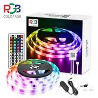 15M LED 5050 RGB Strip Light APP Control Color Changing LED SMD 5050 RGB Light Strips with RF Remote For for Rooms Party