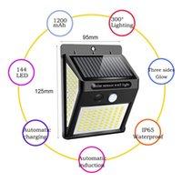 Solar Lamps 144 140 230 LED Light Waterproof PIR Motion Sensor Security Lamp Outdoor Emergency Wall LightPara Patio