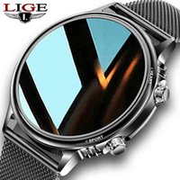 LIGE New Smart Watch Men Custom Dial Full Touch Screen Waterproof watch For Android IOS Sports watch Fitness Tracker