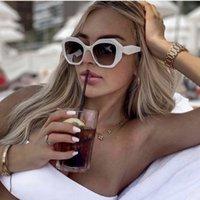 Fashion Irregular sunglass Women Around sunglass Vintage Brand Dign Eyewear Gradient Shad UV400 Sun Glass De Sol Mujer4GQU