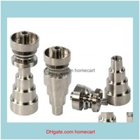 Other Hand Tools Home & Gardentitanium 10Mm&14Mm&19Mm Joint 2 4 6 In 1 Domeless Titanium Nail For Male And Female Drop Delivery 2021 Mm1At